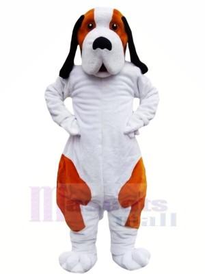 marron et blanc Bernard Chien Mascotte Les costumes Animal