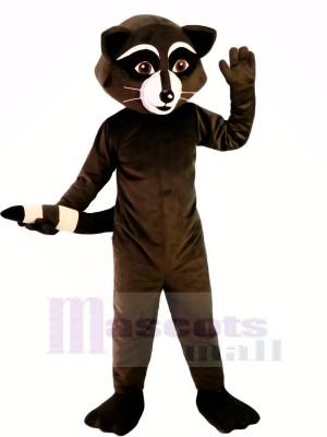 Sauvage Noir Raton laveur Mascotte Les costumes Dessin animé