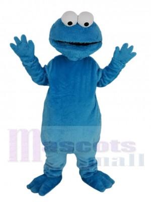 Bleu Poilu Monstre Elmo Mascotte Costume Dessin animé
