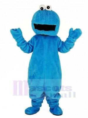Elmo avec Gros Bouche Bleu Biscuit Monstre Mascotte Costume