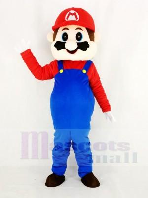 Super Mario Bros dans rouge Mascotte Costume Dessin animé