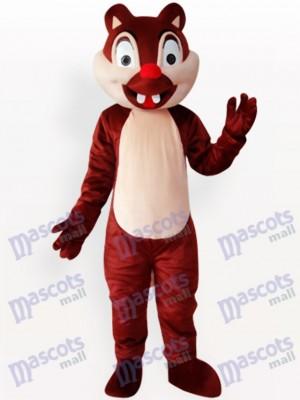 Costume de mascotte de deux animaux écureuil animal adulte