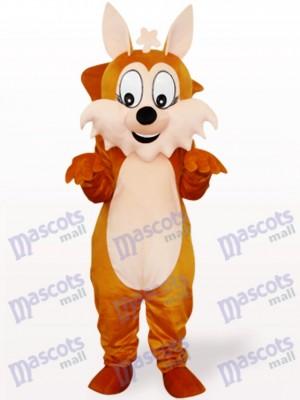 Écureuil brun avec le costume de mascotte adulte animal de grande queue
