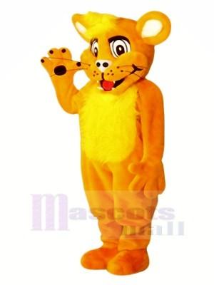 Souriant Lion Mascotte Les costumes Dessin animé