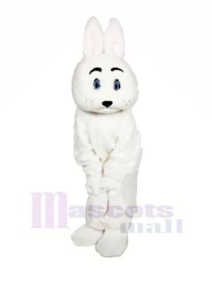 blanc Géant lapin Mascotte Les costumes Dessin animé