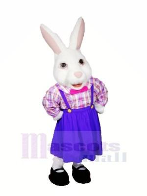 Dame Pâques lapin Mascotte Les costumes Dessin animé