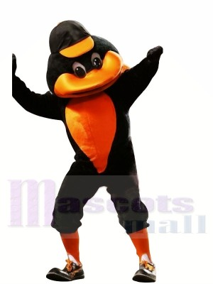 sport canard avec Orange Chapeau Mascotte Les costumes Animal