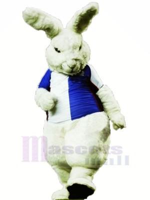 Féroce blanc lapin Mascotte Les costumes Dessin animé