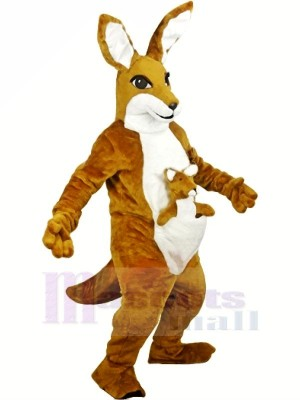 marron Kangourou Adulte Mascotte Les costumes Animal