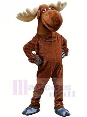 Marrant marron élan Mascotte Costume Adulte