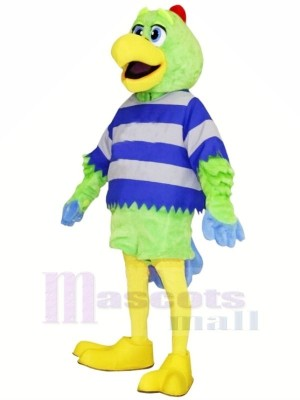 vert Perroquet avec Jaune Le bec Mascotte Les costumes Animal