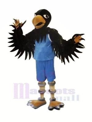 Haute Qualité Noir faucon Mascotte Les costumes Adulte