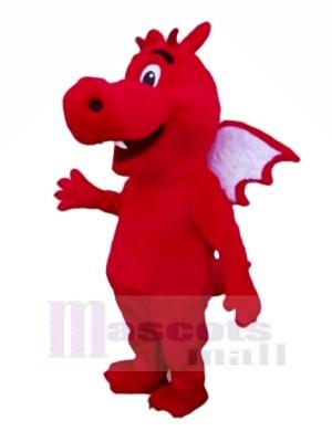 rouge Poids léger Dragon Mascotte Les costumes Dessin animé