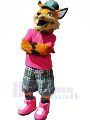 réaliste collège renard mascotte costumes dessin animé