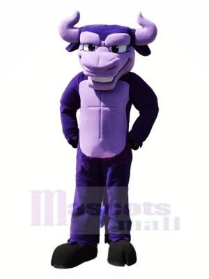 Puissance Violet Taureau Mascotte Les costumes Dessin animé