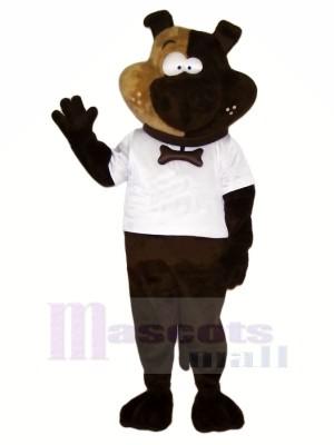 Drôle Chien avec blanc T-shirt Mascotte Les costumes