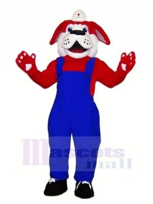 Rouge Croix Chien Mascotte Les costumes Dessin animé