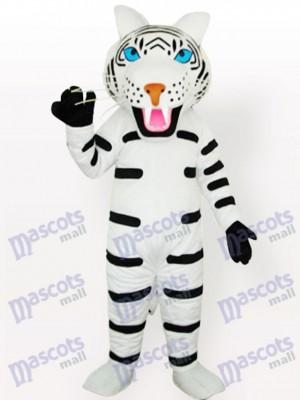 Tigre blanc avec des rayures noires Costume de mascotte adulte Type B