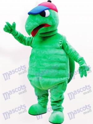 Costume drôle de mascotte adulte vert tortue animaux