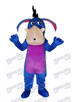 Bleu Bourriquet Adulte Mascotte Costume Dessin animé Anime