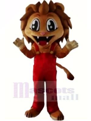 Réaliste marron Lion Mascotte Les costumes Dessin animé