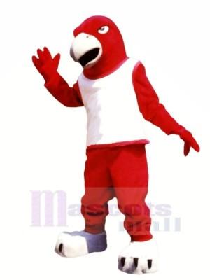 rouge Faucon avec blanc Gilet Mascotte Les costumes