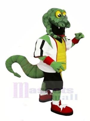 Fort vert Serpent Mascotte Les costumes Dessin animé