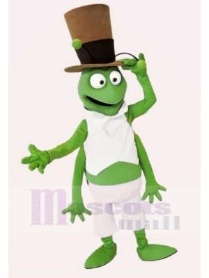 Sauterelle avec Noir Chapeau Mascotte Les costumes