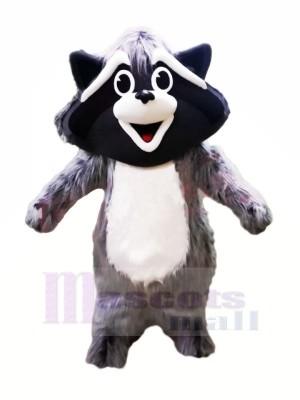 Mignonne Gris Raton laveur Mascotte Les costumes Animal