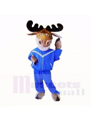 Sport Elk avec l'école de costumes de mascotte Blue Sportswear