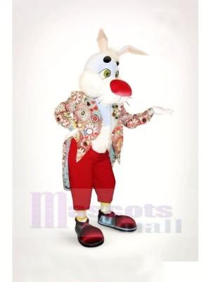 Gent lapin Mascotte Les costumes Pas cher