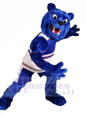 Féroce Bleu Ours Mascotte Les costumes