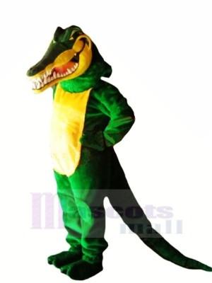 vert Crocodile avec Longue Queue Mascotte Les costumes