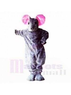 Mascotte gris souris de qualité supérieure