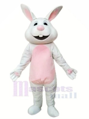 Souriant gris lapin Mascot Costumes Animal