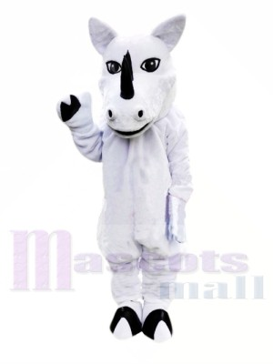 Rhinocéros blanc Costumes De Mascotte