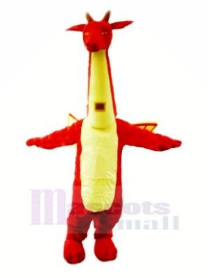 rouge Svelte Dragon Mascotte Les costumes Dessin animé
