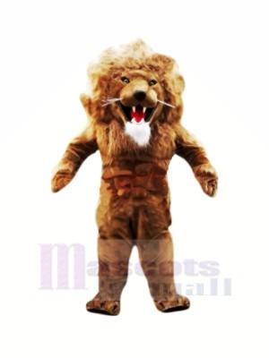 Féroce Musclé Lion Mascotte Les costumes