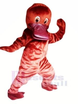 Mignonne rouge Ornithorynque Mascotte Les costumes Pas cher
