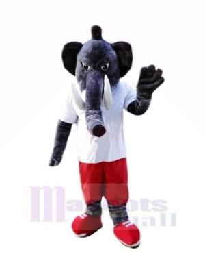 Puissance Gris l'éléphant Mascotte Les costumes Dessin animé