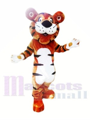 Glücklicher Karikatur Tiger Maskottchen Kostüme