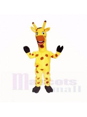 Jaune Amical Poids léger Girafe Costumes De Mascotte Dessin animé