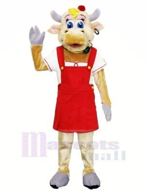 Haute Qualité Femelle Vache Mascotte Les costumes Adulte
