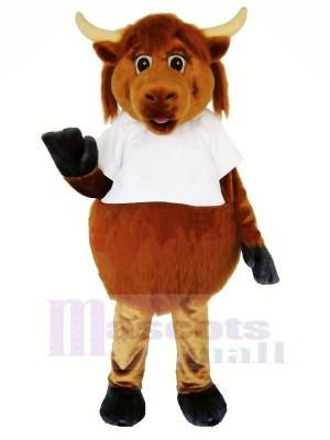 Velu marron Vache Mascotte Les costumes Adulte