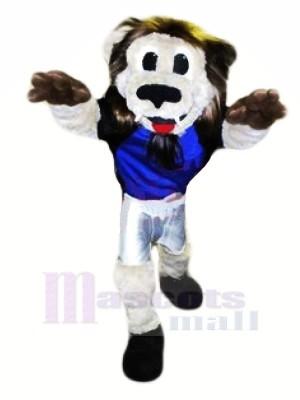 Gris Lion Mascotte Les costumes Adulte