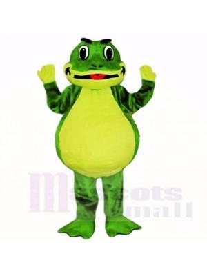 Souriant Amical Poids léger La grenouille Costumes De Mascotte École