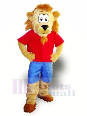 Drôle Lion avec Gros Les yeux Mascotte Les costumes Dessin animé
