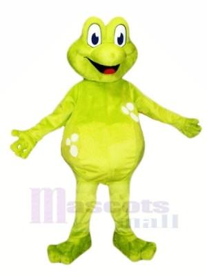 La grenouille avec Gros Les yeux Mascotte Les costumes Dessin animé