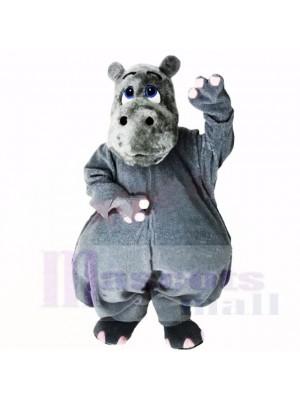 Gris Poids léger Hippopotame Costumes De Mascotte Dessin animé