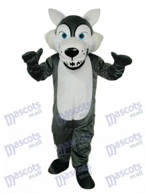 Cheveux courts Loup Mascotte Costume Animal